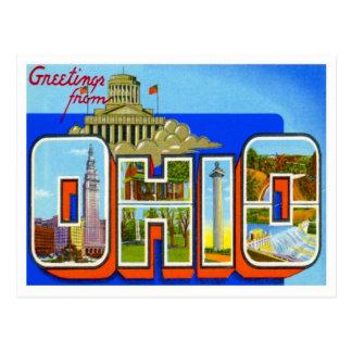 Saludos de Ohio Postales