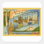 Saludos de Oregon O Colcomanias Cuadradas Personalizadas