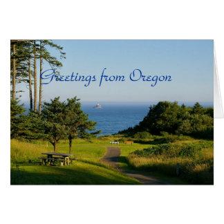 Saludos de Oregon Tarjetas