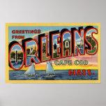 Saludos de Orleans Massachusetts Posters