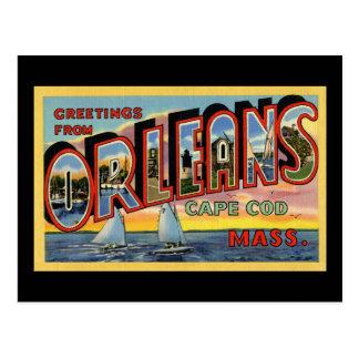 Saludos de Orleans Massachusetts Postal