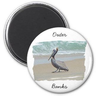 Saludos de Outer Banks OBX NC Imán Redondo 5 Cm