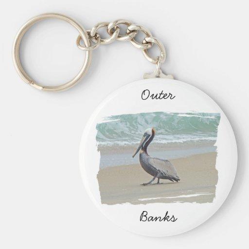 Saludos de Outer Banks OBX NC Llavero Redondo Tipo Pin