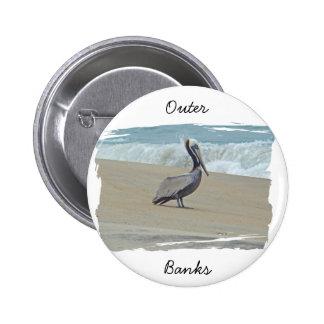 Saludos de Outer Banks OBX NC Pin Redondo De 2 Pulgadas