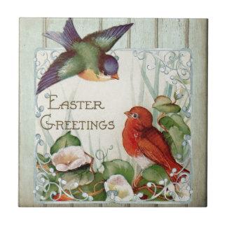 Saludos de Pascua Azulejo Cuadrado Pequeño