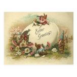 Saludos de Pascua del vintage Postal