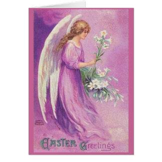 Saludos de Pascua del vintage - tarjeta
