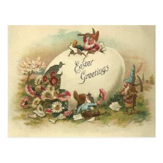 Saludos de Pascua del vintage Tarjetas Postales
