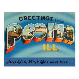 Saludos de Peoria Tarjetas Postales
