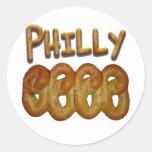 Saludos de Philly Etiquetas Redondas