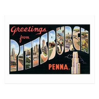 Saludos de Pittsburgh, Penna Tarjeta Postal