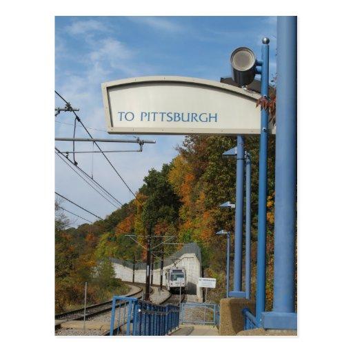 Saludos de Pittsburgh Pennsylvania Tarjeta Postal