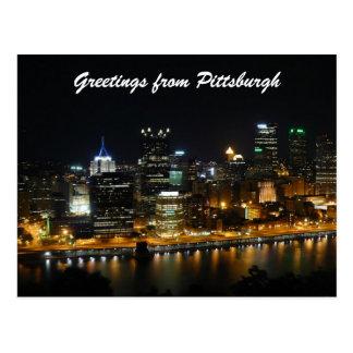 Saludos de Pittsburgh Tarjeta Postal