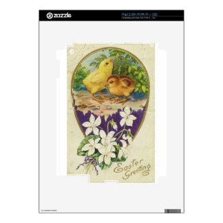 Saludos de Polluelo-Pascua - vintage Calcomanía Para El iPad 2