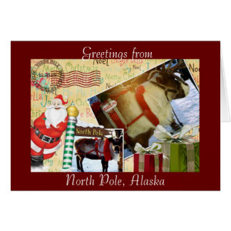 Saludos de Polo Norte, Alaska Tarjeta De Felicitación