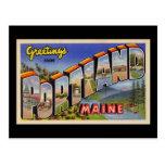 Saludos de Portland Maine Tarjeta Postal