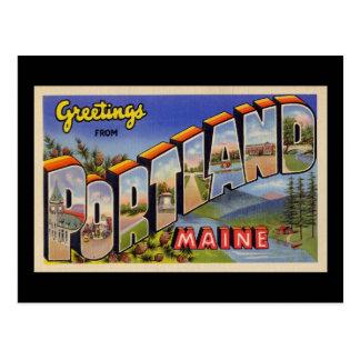 Saludos de Portland Maine Postal