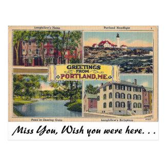 Saludos de Portland, Maine Postal