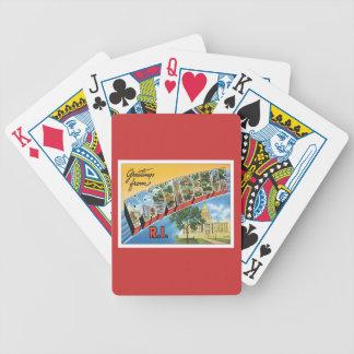 Saludos de Providence Rhode Island Baraja Cartas De Poker