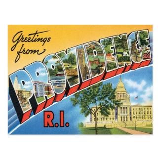 Saludos de Providence, Rhode Island Postales