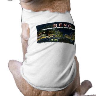 ¡Saludos de Reno, Nevada! Playera Sin Mangas Para Perro