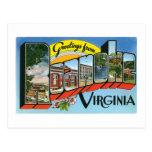 Saludos de Roanoke, Virginia Tarjetas Postales