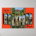 Saludos de ROCKFORD Illinois Impresiones