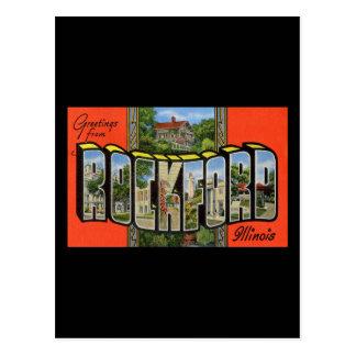 Saludos de ROCKFORD Illinois Tarjetas Postales