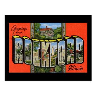 Saludos de ROCKFORD Illinois Tarjeta Postal