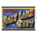 Saludos de Salt Lake City, vintage Felicitación