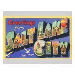 Saludos de Salt Lake City, vintage Flyer A Todo Color