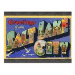Saludos de Salt Lake City, vintage Tarjetas Postales