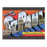 Saludos de San Pablo Minnesota, vintage Tarjeta Postal