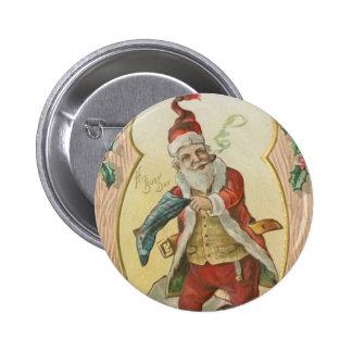 Saludos de Santa del vintage Pin
