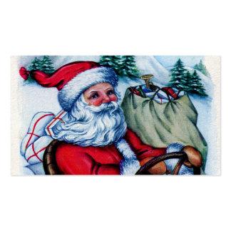 Saludos de Santa del vintage Plantillas De Tarjetas Personales