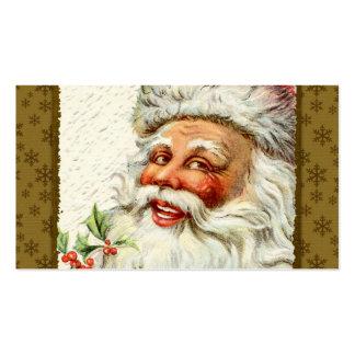 Saludos de Santa del vintage Tarjeta De Visita