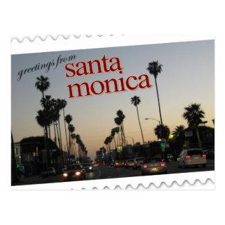 Saludos de Santa Mónica, California Tarjeta Postal