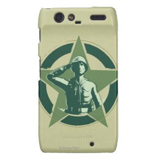 Saludos de Sarge del ejército Motorola Droid RAZR Funda
