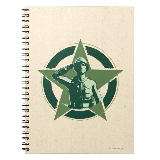 Saludos de Sarge del ejército Libro De Apuntes