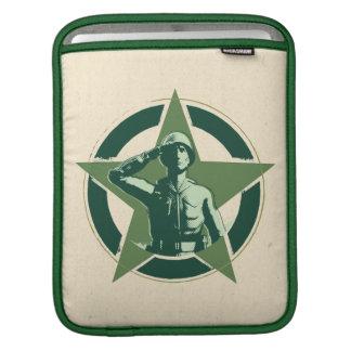 Saludos de Sarge del ejército Mangas De iPad