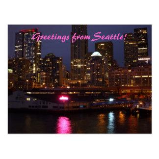 ¡Saludos de Seattle Postales
