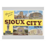 Saludos de Sioux City Iowa, vintage Tarjetas Informativas
