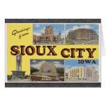 Saludos de Sioux City Iowa, vintage Tarjetas