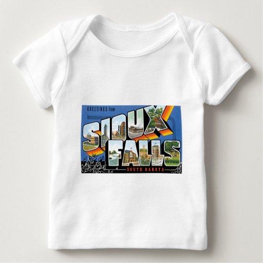 ¡Saludos de Sioux Falls, Dakota del Sur! Retro Playera De Bebé