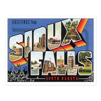 Saludos de Sioux Falls, Dakota del Sur Tarjetas Postales