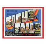 Saludos de Sioux Falls, Dakota del Sur Tarjeta Postal