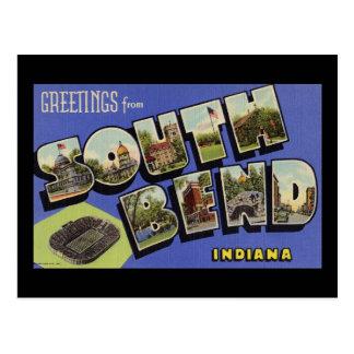 Saludos de South Bend Indiana Tarjetas Postales