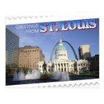 Saludos de St. Louis, Missouri Tarjeta Postal