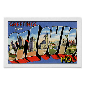 Saludos de St. Louis Póster