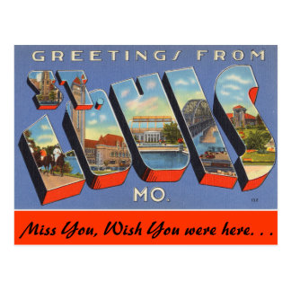 Saludos de St. Louis Tarjetas Postales